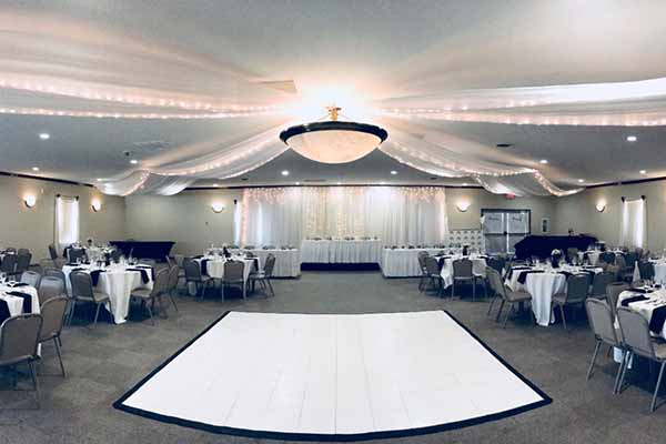 Wedding dance floor in banquet facility, Radnor Ohio