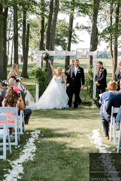 out door wedding in Radnor Ohio